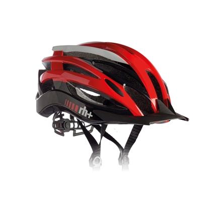 Obrázek helma RH+ Z2in1, shiny red/shiny white/shiny black
