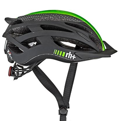 Obrázek helma RH+ Z2in1, matt carbon/shiny green fluo/matt black