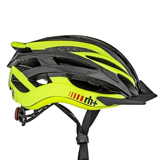 Obrázek z helma RH+ Z2in1, shiny dark carbon/shiny yellow