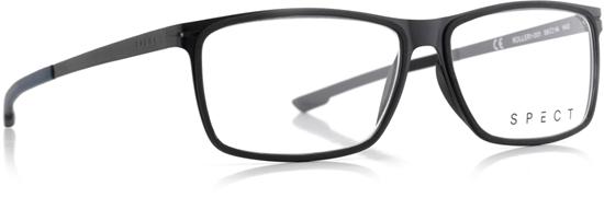 Obrázek z brýlové obruby SPECT SPECT Frame, ROLLER1-001, matt black/matt black rubber/matt black/matt greish blue outside-matt black inside rubber, 56-14-140