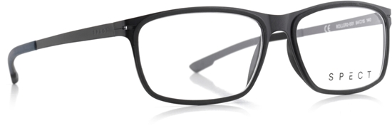 Obrázek z brýlové obruby SPECT SPECT Frame, ROLLER2-001, matt black/matt black rubber/matt black/matt greyish blue outside-matt black outside rubber, 54-15-140