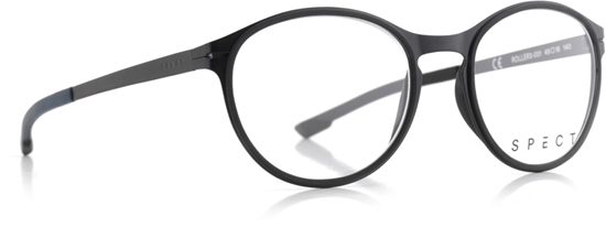 Obrázek z brýlové obruby SPECT SPECT Frame, ROLLER3-001, matt black/matt black rubber/matt black/matt greyish blue outside-matt black inside, 49-18-140