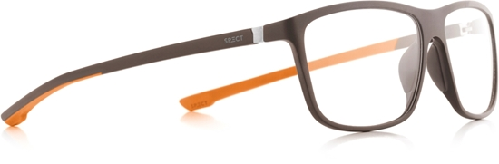 Obrázek z brýlové obruby SPECT Frame, SHIFT3-003, matt dark brown/matt dark brown/matt orange rubber, 57-15-140