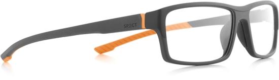 Obrázek z brýlové obruby SPECT Frame, TRACK1-010, matt dark grey/matt dark grey/matt orange rubber, 57-15-145