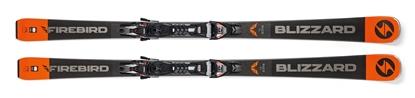 Obrázek sjezdové lyže BLIZZARD BLIZZARD FIREBIRD Race Ti, black/grey/orange, 18/19 + vázání BLIZZARD TPX 12 DEMO, 18/19
