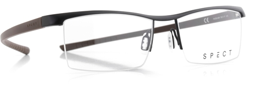Obrázek z brýlové obruby SPECT Frame, HUG2-004, matt black/matt brown, 55-17-145