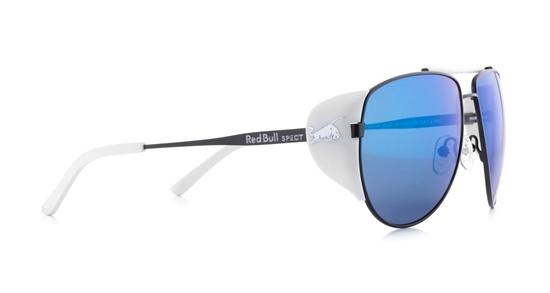 Obrázek z sluneční brýle RED BULL SPECT Sun glasses, GRAYSPEAK-005P, black/smoke with blue mirror POL, 61-15-138