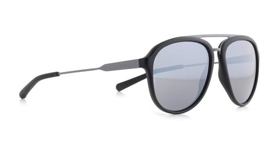 Obrázek z sluneční brýle SPECT SPECT Sun glasses, PALMBEACH-002P, black/smoke with silver flash POL, 55-16-145