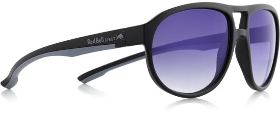 Obrázek z sluneční brýle RED BULL SPECT RB SPECT Sun glasses, BAIL-005P, matt black/smoke with gradient blue revo POL, 59-16-140
