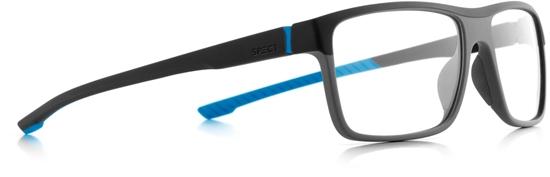 Obrázek z brýlové obruby SPECT SPECT Frame, TRACK2-008, matt black/matt dark grey/matt black/matt light blue rubber, 57-17-145