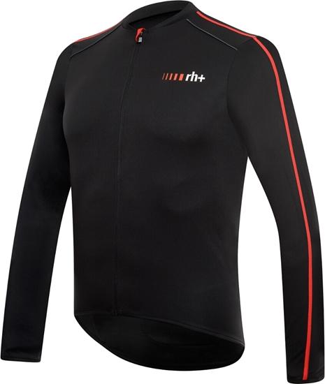 Obrázek z dres RH+ Prime EVO LS Jersey, black/red, AKCE