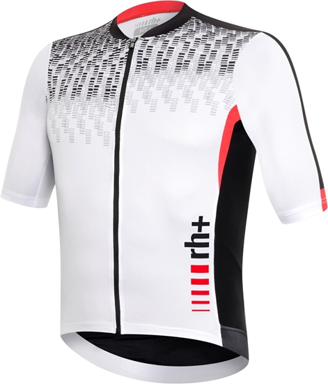 Obrázek z dres RH+ Shiver Jersey, white/black/red (PRT)