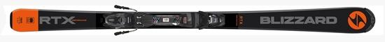 Obrázek z sjezdové lyže BLIZZARD BLIZZARD RTX Performance, anthracite/orange, flat, rental, 18/19