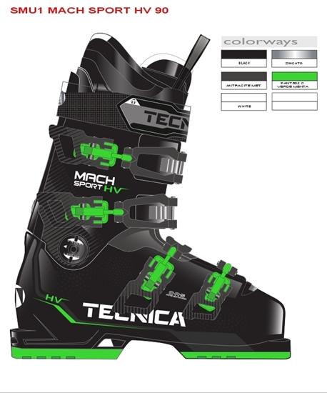 Obrázek z lyžařské boty TECNICA Mach Sport 90 HV SMU CZ, black/green, 18/19