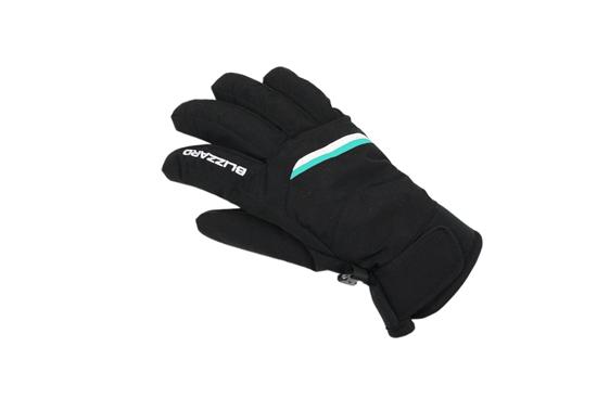 Obrázek z lyžařské rukavice BLIZZARD Viva Plose ski gloves, black/white/turquoise, AKCE