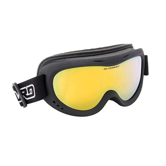 Obrázek z lyžařské brýle BLIZZARD Ski Gog. 907 DAZO, black, amber2, silver mirror, AKCE