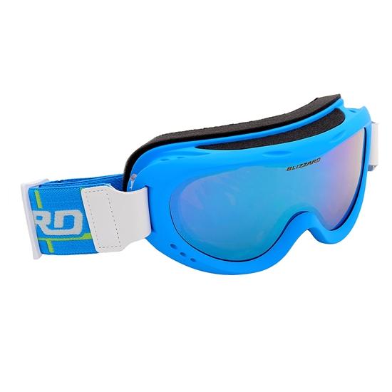 Obrázek z lyžařské brýle BLIZZARD Ski Gog. 907 MDAZO, neon blue matt, smoke2, blue mirror