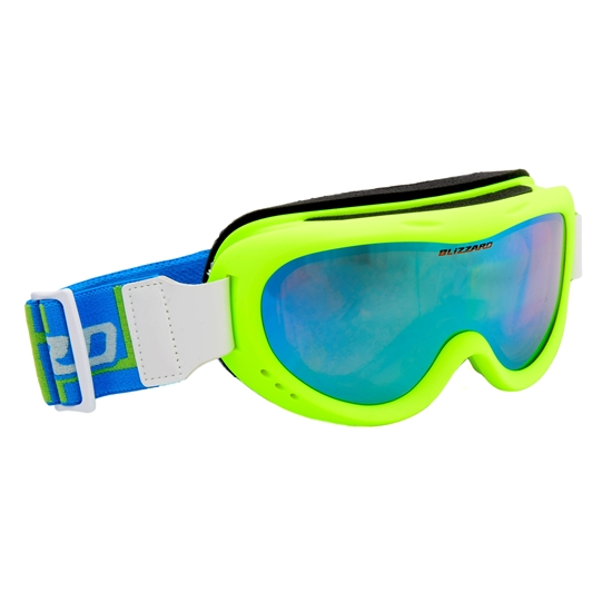 Obrázek z lyžařské brýle BLIZZARD Ski Gog. 907 MDAZO, neon green matt, smoke2, blue mirror, AKCE