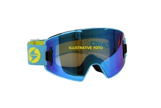 Obrázek z lyžařské brýle BLIZZARD Ski Gog. 927 MAGNETIC + BOX, neon yellow matt, 1x orange + 1x smoke, silver mirror, AKCE