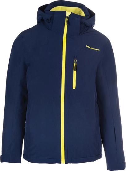 Obrázek z lyžařská bunda BLIZZARD Mens Jacket Bormio, blackblue/lime