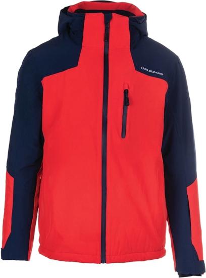 Obrázek z lyžařská bunda BLIZZARD Mens Jacket Bormio, blackblue/redorange