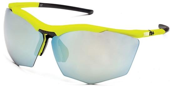 Obrázek z sluneční brýle RH+ Super Stylus, yellow/black, smoke flash silver + orange lens