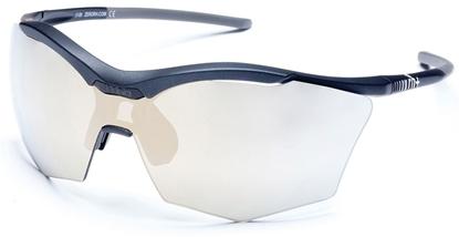 Obrázek sluneční brýle RH+ Ultra Stylus, matt black/grey, smoke flash light gold/silver + orange lens