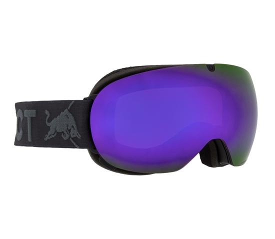 Obrázek z lyžařské brýle RED BULL SPECT Goggles, MAGNETRON ACE-001, matt black frame/dark anthracite headband, lens: purple snow CAT3