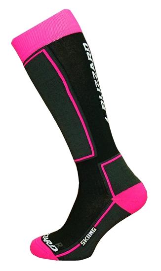 Obrázek z ponožky BLIZZARD Skiing ski socks junior, black/pink