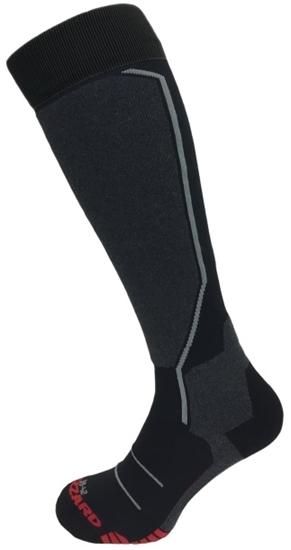 Obrázek z lyžařské ponožky BLIZZARD Allround ski socks, black/anthracite/grey/red