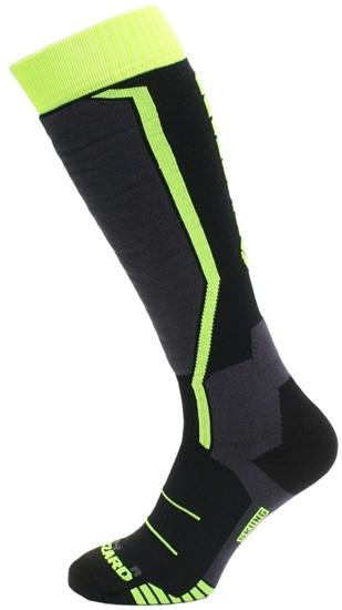 Obrázek z lyžařské ponožky BLIZZARD Allround ski socks junior, black/anthracite/signal yellow