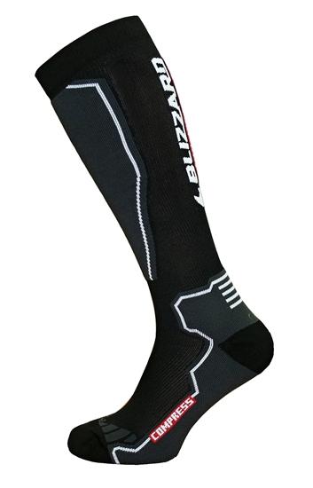 Obrázek z ponožky BLIZZARD Compress 85 ski socks, black/grey