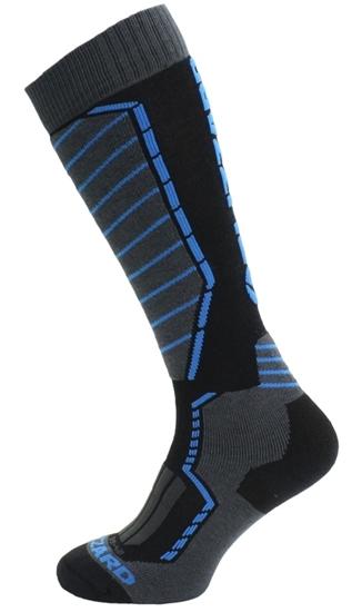 Obrázek z lyžařské ponožky BLIZZARD Profi ski socks, black/anthracite/blue