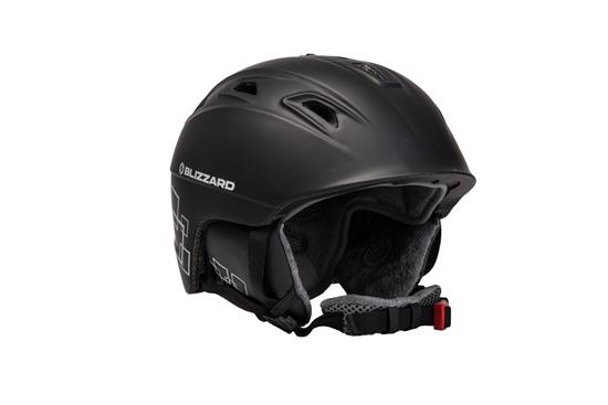 Obrázek z helma BLIZZARD Demon ski helmet, black matt/silver squares
