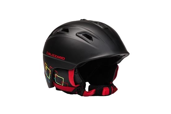 Obrázek z helma BLIZZARD Demon ski helmet junior, black matt/colorfull squares