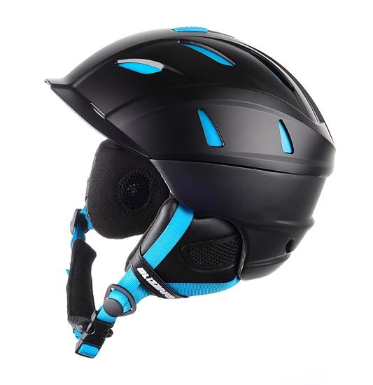 Obrázek z helma BLIZZARD Power ski helmet, black matt/neon blue, AKCE