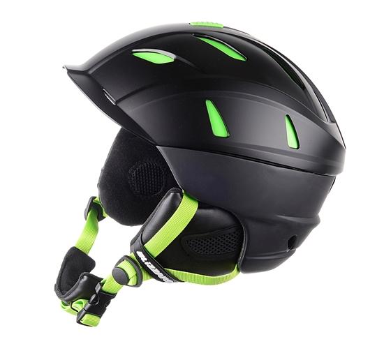 Obrázek z helma BLIZZARD Power ski helmet, black matt/lime, AKCE