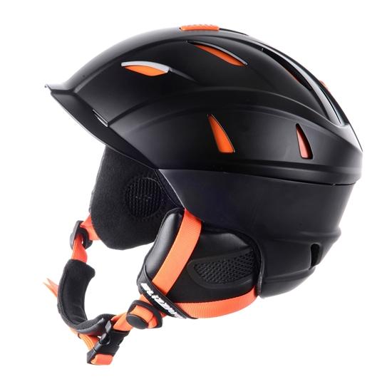 Obrázek z helma BLIZZARD Power ski helmet, black matt/neon orange, AKCE