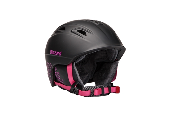 Obrázek z helma BLIZZARD Viva Demon ski helmet, black matt/magenta flowers