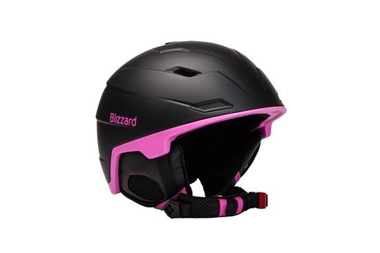 Obrázek z helma BLIZZARD Viva Double ski helmet, black matt/magenta