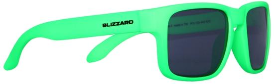 Obrázek z sluneční brýle BLIZZARD sun glasses POL125-440 rubber neon green, 55-15-123, AKCE