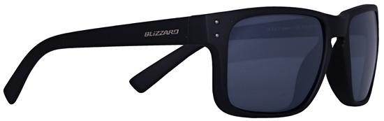 Obrázek z sluneční brýle BLIZZARD sun glasses POL606-111 rubber black, gun decor points, 65-17-135, AKCE