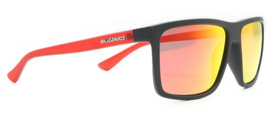 Obrázek z sluneční brýle BLIZZARD sun glasses POL801-126 rubber black, 65-17-140, AKCE