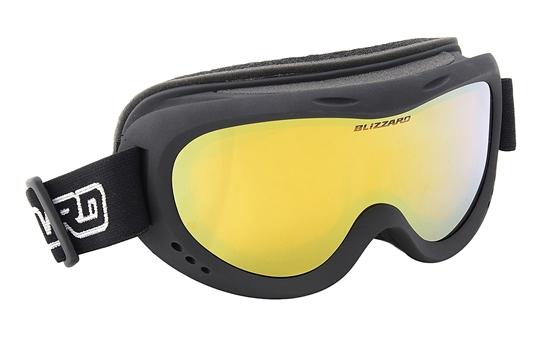 Obrázek z lyžařské brýle BLIZZARD Ski Gog. 907 MDAZFO, black matt, amber2-3, gold mirror, photo, AKCE