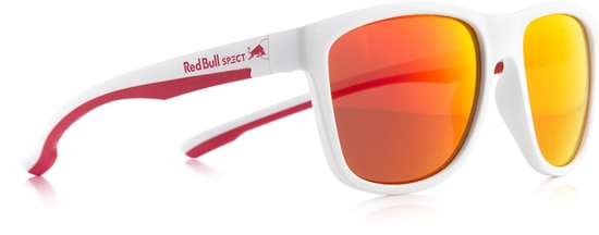 Obrázek z sluneční brýle RED BULL SPECT RB SPECT Sun glasses, BUBBLE-004, matt white/smoke with red REVO, 55-17-145, AKCE