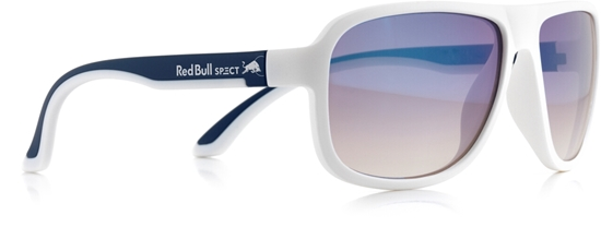 Obrázek z sluneční brýle RED BULL SPECT RB SPECT Sun glasses, LOOP-005, matt white/matt dark blue temple/smoke with blue REVO, 59-15-145