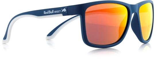 Obrázek z sluneční brýle RED BULL SPECT Sun glasses, TWIST-011, matt dark blue/smoke with orange REVO, 56-17-140, AKCE