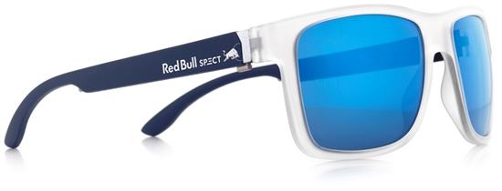 Obrázek z sluneční brýle RED BULL SPECT RB SPECT Sun glasses, WING1-002, matt transparent white/smoke with blue mirror, 56-17-145, AKCE