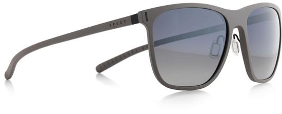 Obrázek z sluneční brýle SPECT Sun glasses, SOLID-003P, grey, smoke gradient with silver flash POL, 54-16,6-140