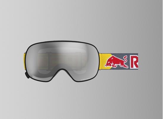 Obrázek z lyžařské brýle RED BULL SPECT Goggles, MAGNETRON-001, matt black frame/grey headband, lens: silver snow CAT2